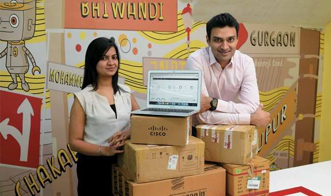 L-R: LogiNext founders Manisha Raisinghani and Dhruvil Sanghvi