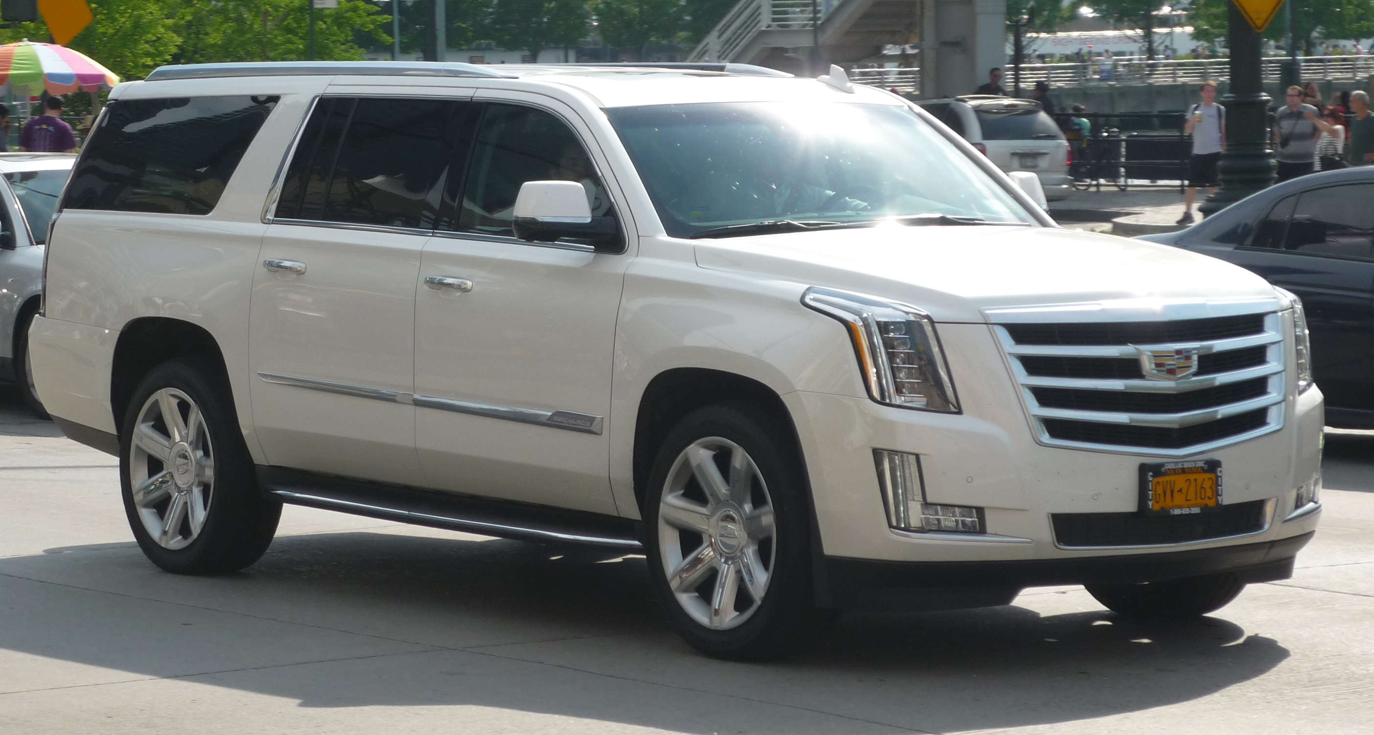 The South Korean tech firm said its plastic OLED-based digital cockpit system will be installed in the new 2021 Cadillac Escalade SUV.