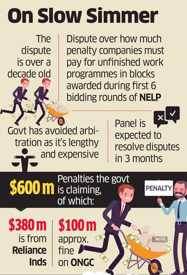 Govt may refer RIL, ONGC penalty row to expert panel