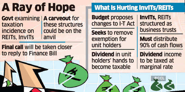 Carveout for REITs, InvITs under consideration