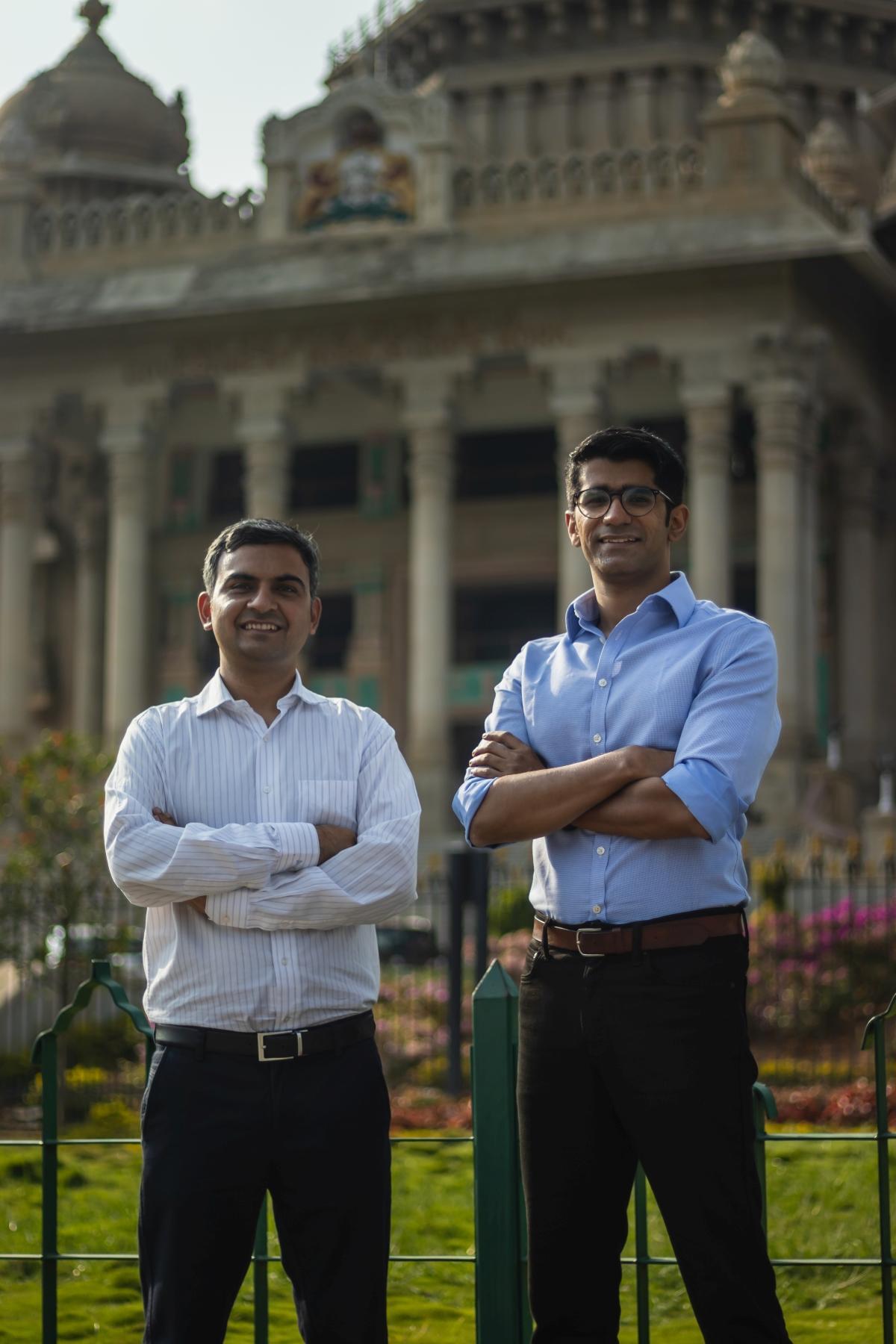 L-R: Leap Finance founders Vaibhav Singh and Arnav Kumar