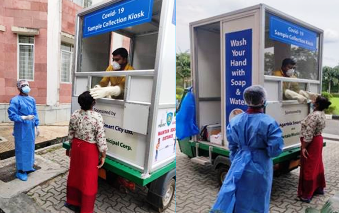 Mobile kiosk: Tripura: Agartala smart city develops 'mobile kiosk ...