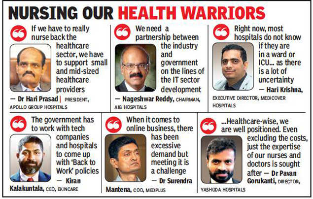 Promote Hyderabad as a destination for healthcare: The healthcare industry