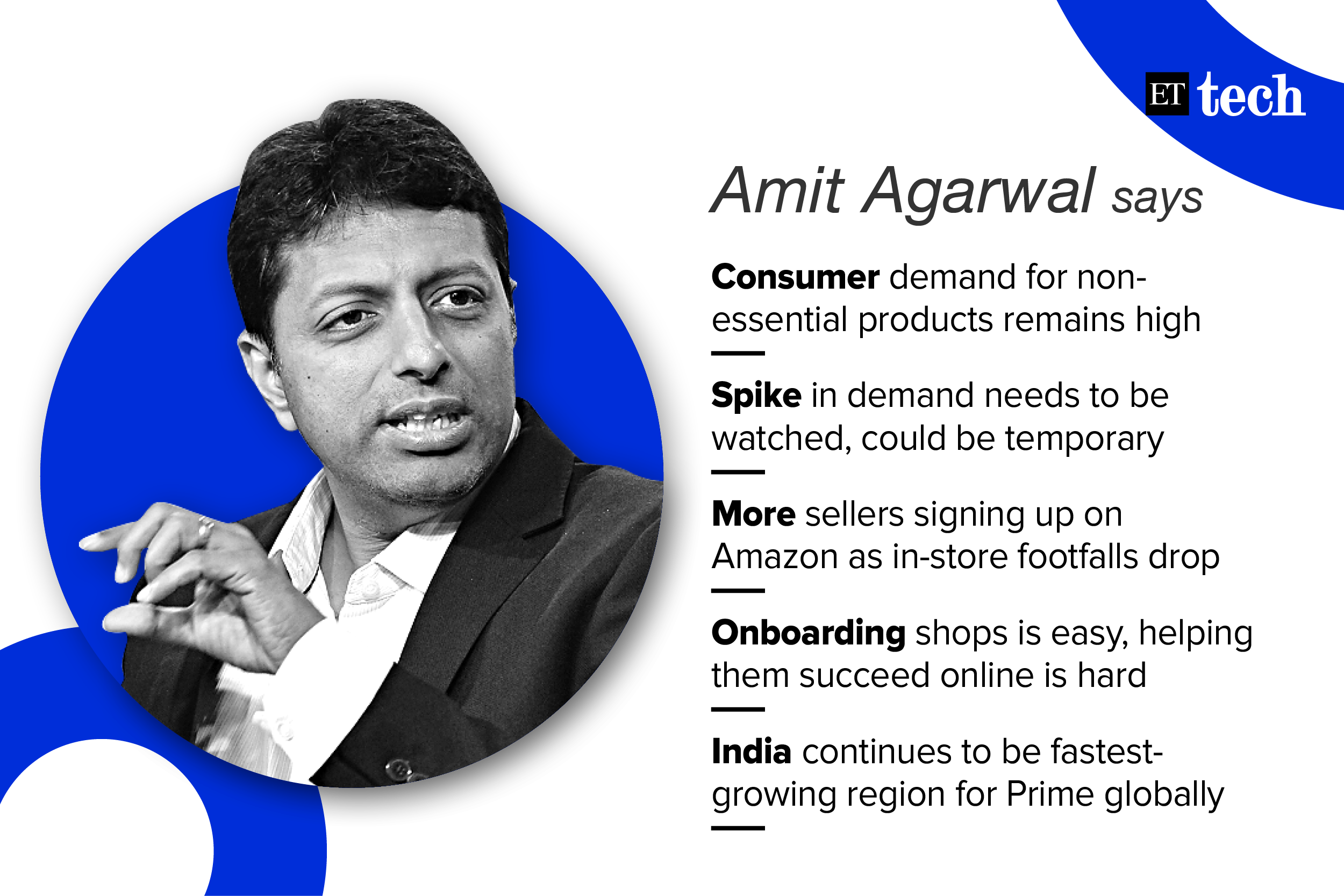 Helping sellers revive their business will jump-start the economy: Amazon's Amit Agarwal