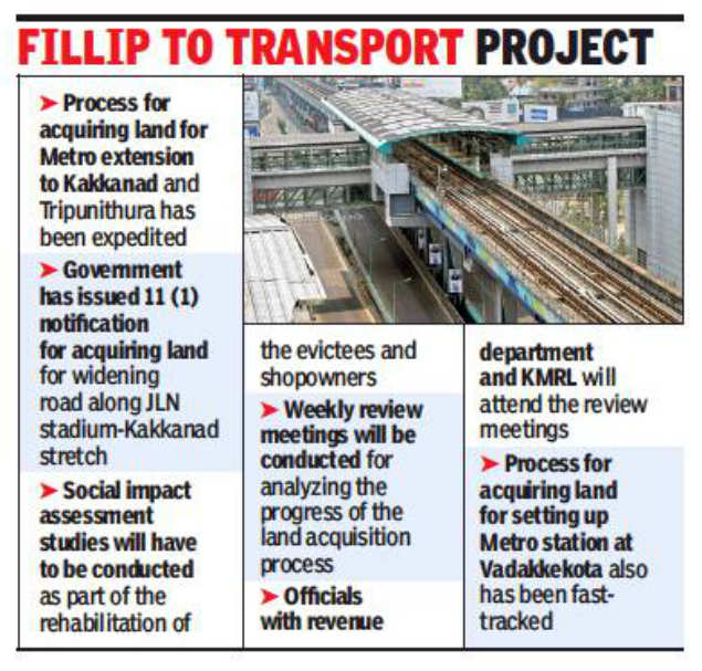 Land acquisition process on fast-track for Kochi metro