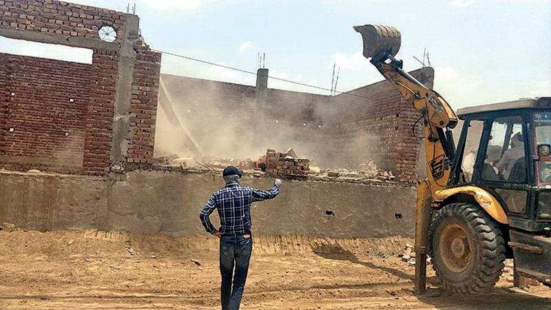 Two illegal colonies demolished along Sohna road – ET RealEstate