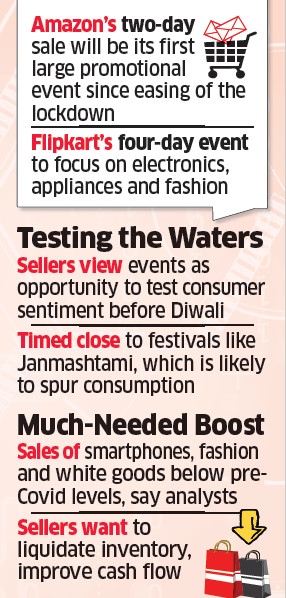 Amazon, Flipkart pad up for sale events before festive season