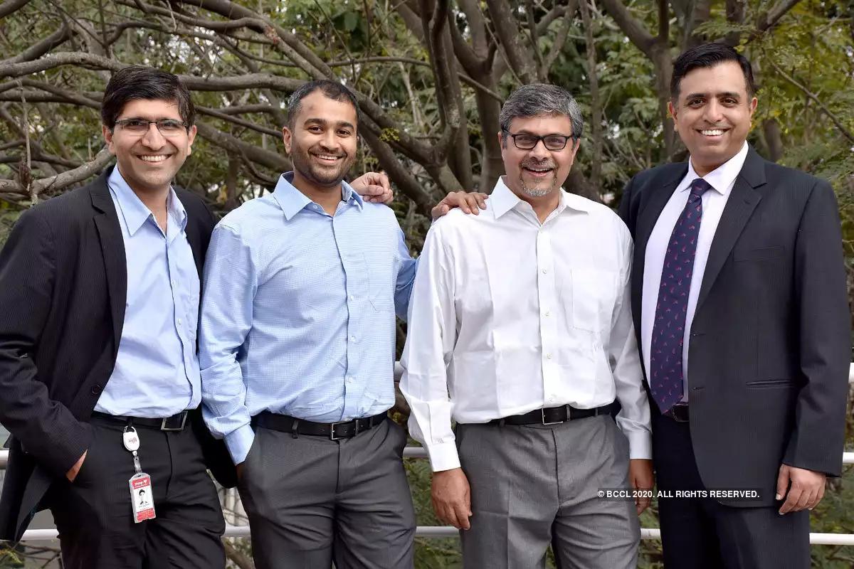 (L-R) Tricog co-founders Zainul Charbiwala, Abhinav Gujjar, Udayan Dasgupta and Charit Bhograj