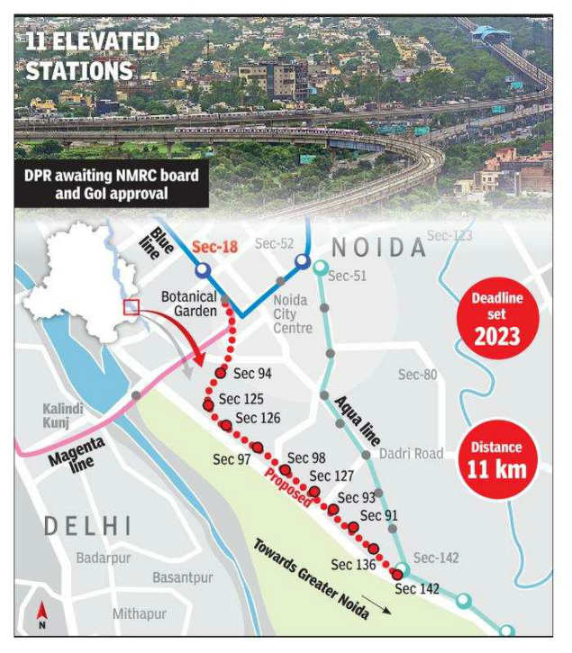 NMRC to construct metro from Greater Noida to Botanical Garden by 2023