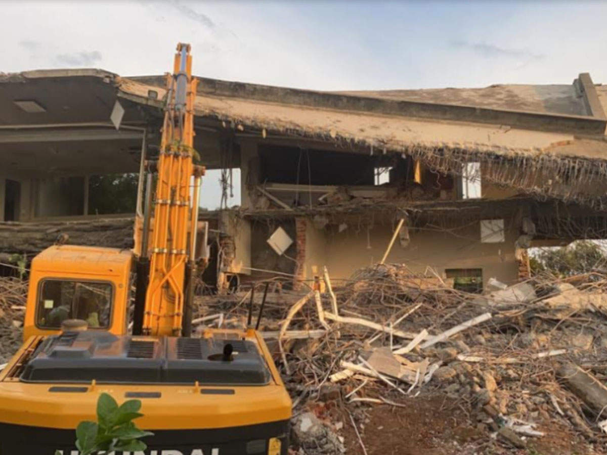Gurugram: Razed Aravali farmhouses had jacuzzis, lounges