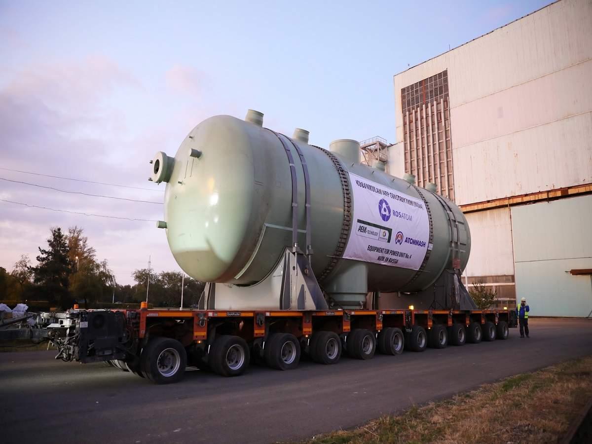Rosatom ships steam generator, other equipment for Kudankulam