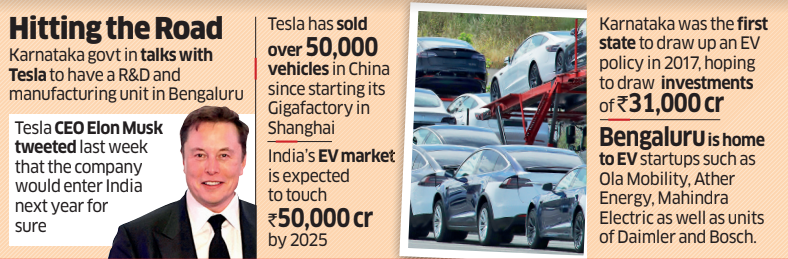 Bengaluru keen to roll out red carpet for Tesla safari