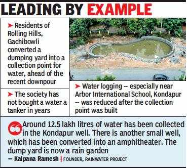 Housing societies in Hyderabad tap rainwater for summer