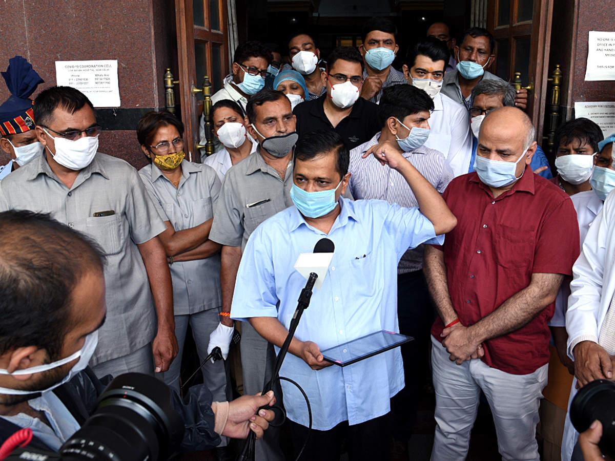 دهلی CM بنیاد ایجاد بلوک جدید را در بیمارستان LNJP ایجاد می کند ، از مبارزان تاج استقبال می کند