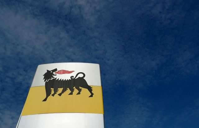 The logo of Italian energy company Eni is seen at a gas station in Rome, Italy September 30, 2018. REUTERS