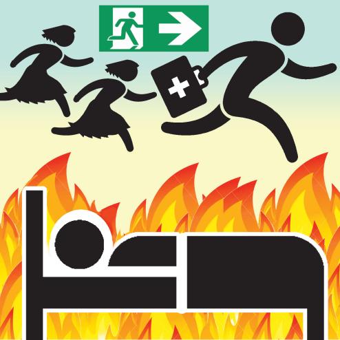 10 بیمار کوید در آتش سوزی بیمارستان رومانی جان خود را از دست دادند