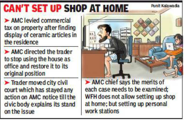 Ahmedabad: Work-from-home invites commercial property tax!