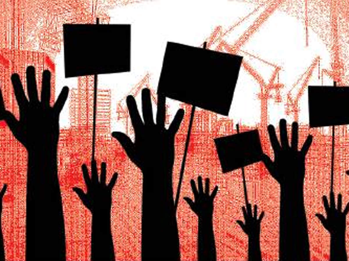 Gurugram: NBCC Green View residents protest over 'unsafe' buildings – ET RealEstate