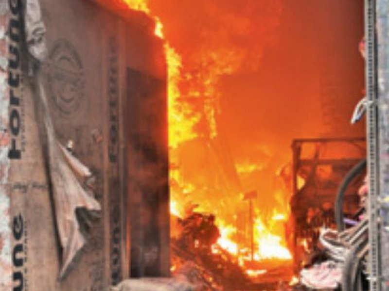 Fire at e-commerce storehouse in Delhi's Rohini; woman, fireman injured