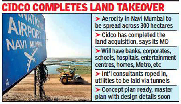 Cidco starts developing 400 lakh sq ft aerocity near Navi Mumbai international airport
