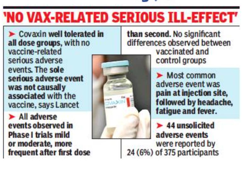 בין שורות היעילות, קובקסין מגלה אגודל מ- Lancet