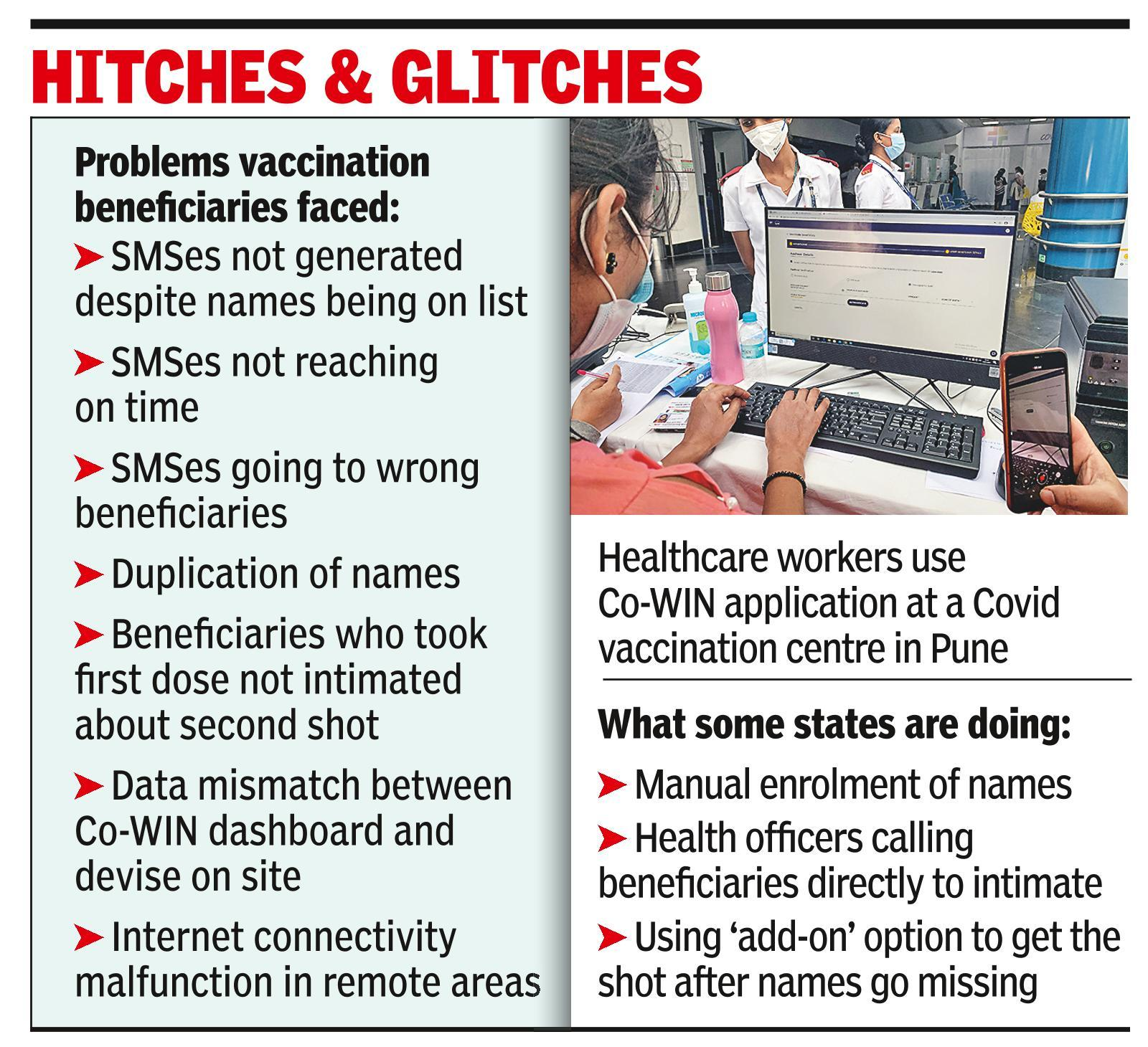 'For morning vaccination slot, got SMS alert later that noon'