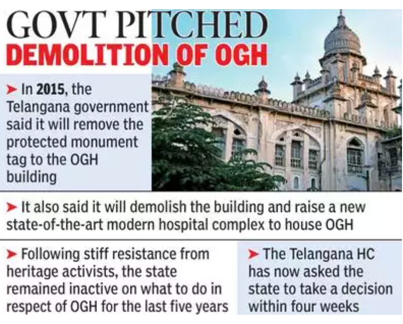 हैदराबाद: विरासत या अस्पताल?  OGH पर कोई फैसला क्यों नहीं होता, HC सरकार से पूछता है