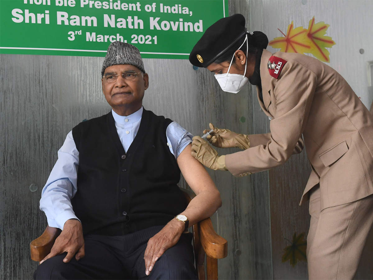 President Ram Nath Kovind gets first dose of Covid-19 vaccine