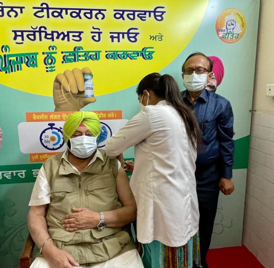 Punjab CM gets the first jab of anti-Covid vaccine, urges those eligible to get inoculated