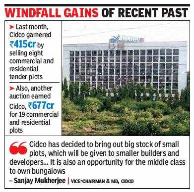 Navi Mumbai: Around 1,000 Cidco plots up for grabs over next 12 months