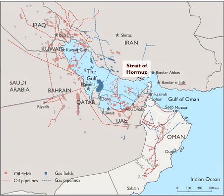 Blockage of shipping lines in the Suez Canal and ramifications for the Strait of Hormuz