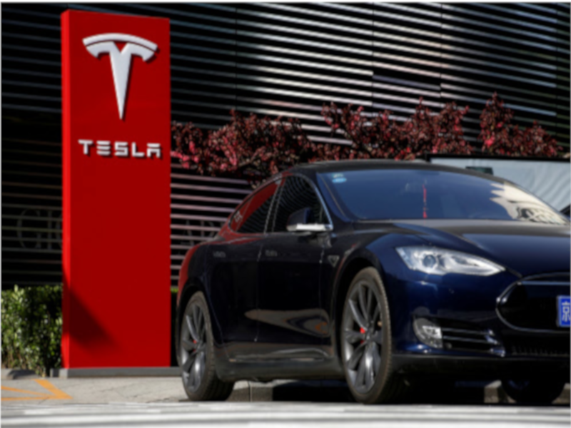 Tesla shares surge on record electric cars deliveries in first qtr