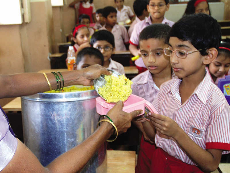 The food items are being provided in lieu of the midday meal as part of food security allowance to primary and upper primary schools