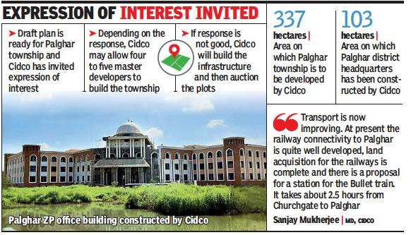 Cidco to develop township on 337 hectares of land in Palghar