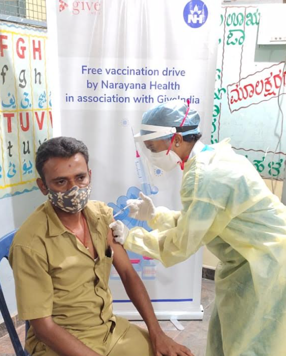 Narayana Health and GiveIndia roll out free Covid-19 vaccination drive for the underserved
