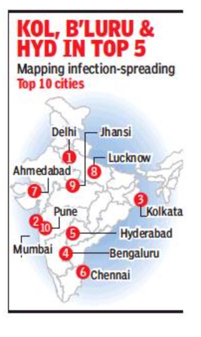 Delhi, Mum top 'hazard index' for infection spread