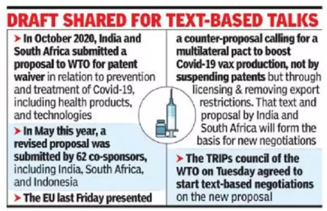 WTO members to discuss patent waiver for Covid drugs, vax