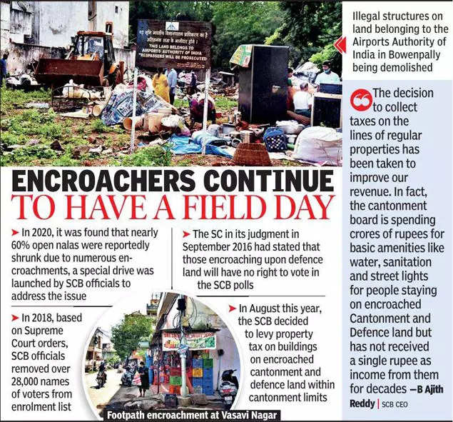 With no town planning, Secunderabad cantonment board fails to push back squatters