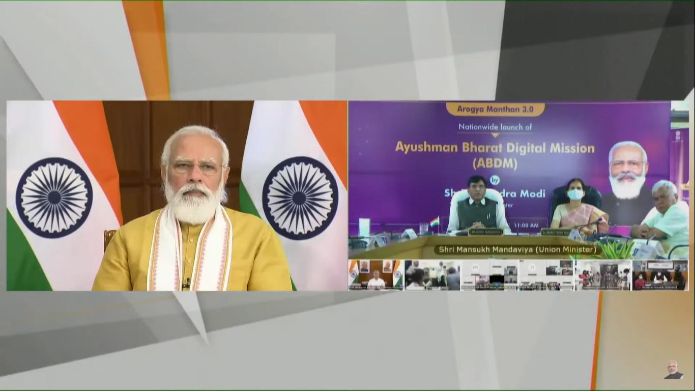 PM Modi ماموریت دیجیتالی Ayushman Bharat را راه اندازی کرد