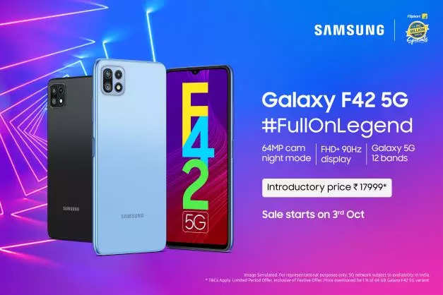 Samsung Galaxy F42 5G with 12 band 5G support launched at introductory price of Rs 17,999