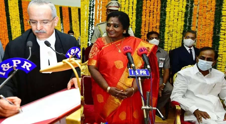 Justice Satish Chandra Sharma sworn in as new Chief Justice of Telangana High Court