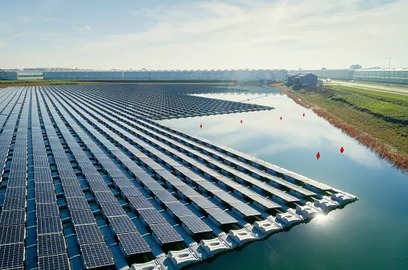 bhel commissions india s largest floating solar plant in andhra pradesh