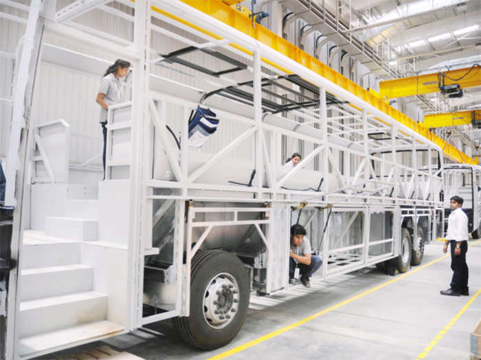 Sneak peek: Scania's bus manufacturing facility in Bangalore - Serve as an export hub | ET Auto