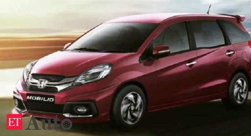 Honda Mobilio End Of Road For Honda Mobilio In India Auto News Et