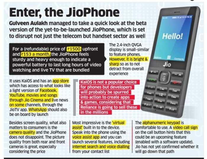 JioPhone: JioPhone first impressions: A quick look at the 4G VoLTE