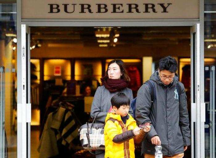 33bc40fb0462 Burberry  Burberry shares down sharply on disappointing holiday ...