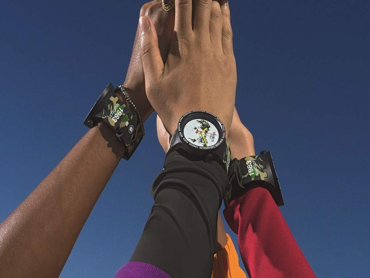 Watches Six Release Bape Collaboration With Collection Swatch And QBWCrxdoe