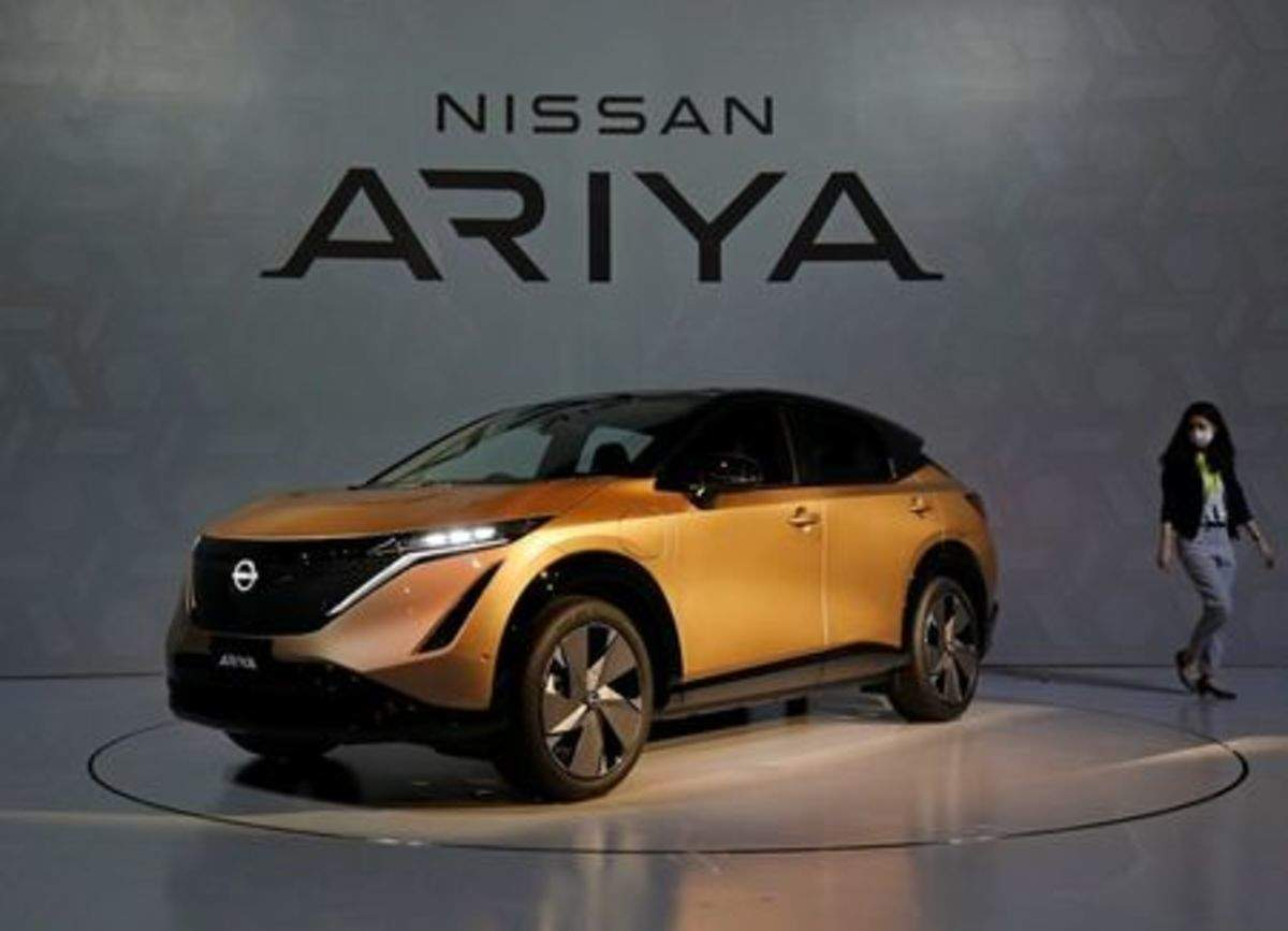 Nissan Ariya Electric Suv Nissan Bets On New Ariya Electric Suv To Symbolise Its Revamp But Sales Plans Modest Auto News Et Auto