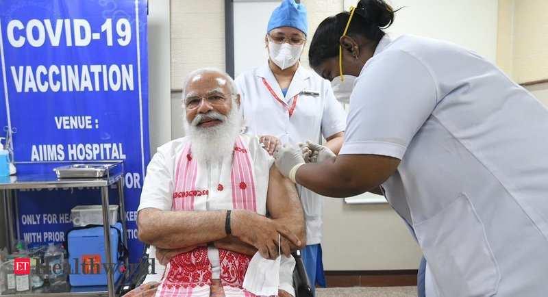 पीएम मोदी ने दिल्ली के एम्स – ईटी हेल्थवर्ल्ड में कोविद -19 वैक्सीन की पहली खुराक ली
